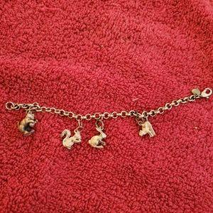 """Jewelry - 7"""" animal charm bracelet."""